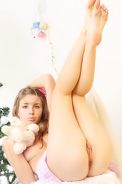 Sexy teen with long legs