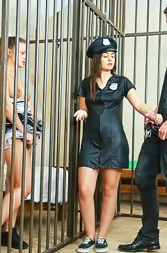 Anina Silk gets fucked in jail