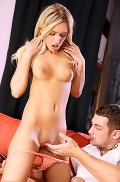 Glamour Jessi playing with dick
