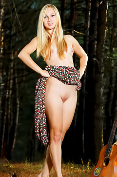 Belonika - naked blonde in the fores