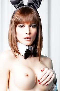 Topless bunny Victoria Ananieva