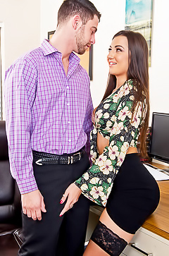Free porn in office with Lily Adams
