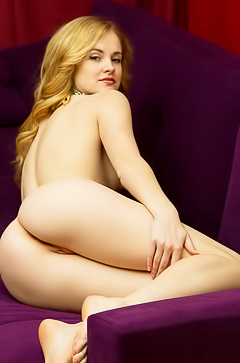 Alice May is showing her narrow holes