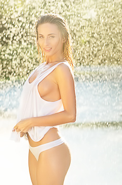 Cara Mell - sexy wet pictures
