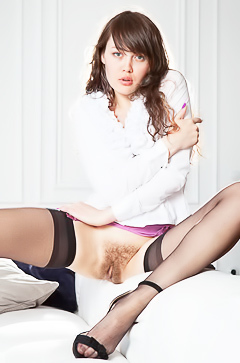Sweet hairy Russian girl Ulia