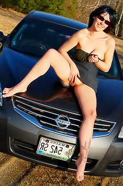 Nude amateur pics on a car