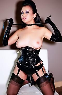 Busty fetish brunette Caroline Aquino
