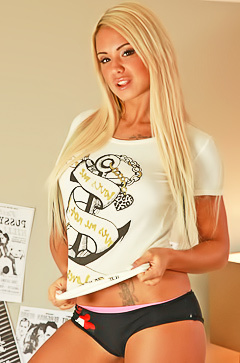 World famous glamour star Ashley Bulgari