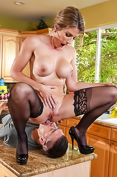 Kitchen sex with Cory Chase