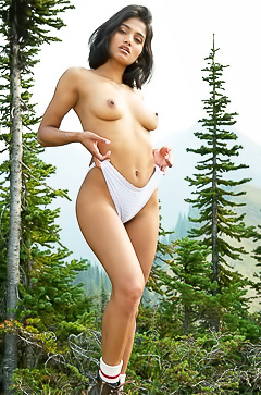 Nude picnic with charming Angel Constance