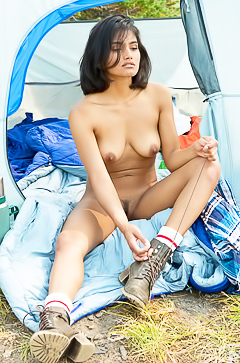 Angel Constance - camping nudity