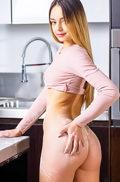 The beautiest asian stripping in the kitchen