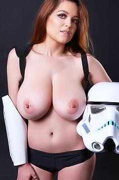 Tessa Fowler - redhead hottie with huge boobs