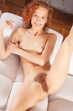 Natural hairy girl Dennie