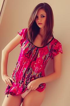 Aspen In A Magenta Dress