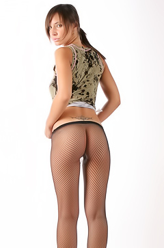 Monika In Fishnet Stockings