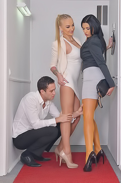 Ania Kinski And Kayla Green In Foot Fetish Threesome