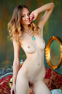 Slim Teenie Irene Gets Nude