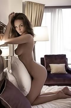Fashionable Model Maria Demina