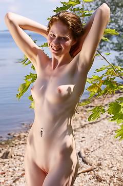 Captivating Girl On Seashore